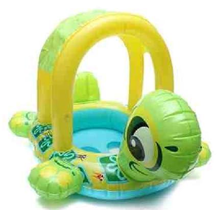 Bebé Niños Tortuga Forma inflable piscina flotador asiento barco agua flotador/flotadores de piscina inflable