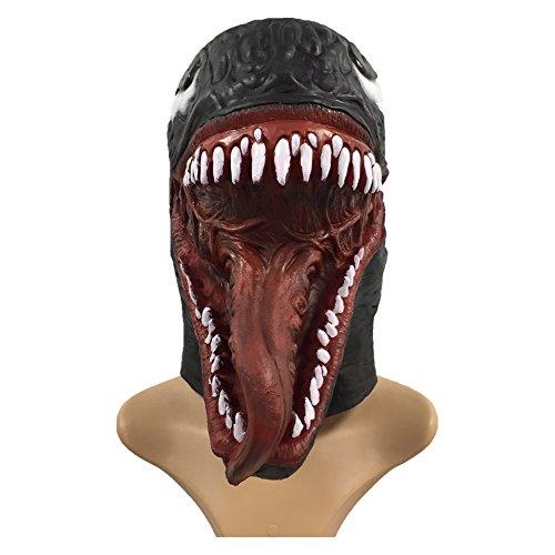 Venom Mask Scary Latex Full Head Helmet Halloween Cosplay Costume Accessory ()