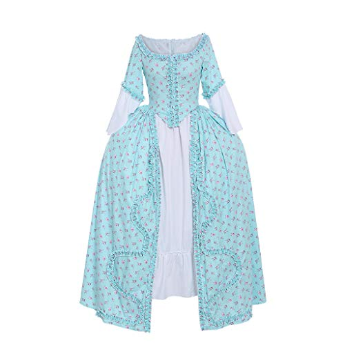 1791's lady Women's Victorian Rococo Dress Inspiration Maiden Costume NQ0032 (L:Height65-67 Chest38.5-40