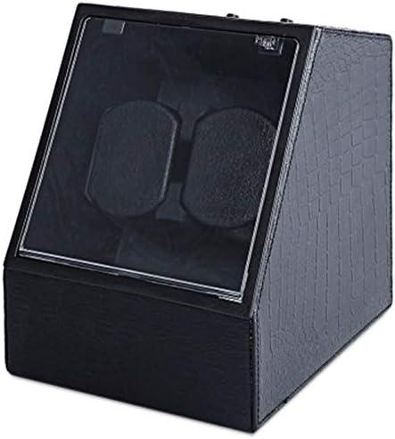 AJH Automatische Uhrenbeweger-Box, Automatische Drehung, Transparentes Anzeigefenster, Unregelmäßige Form, Mehrere Materialien, Eingebautes Doppelkissen