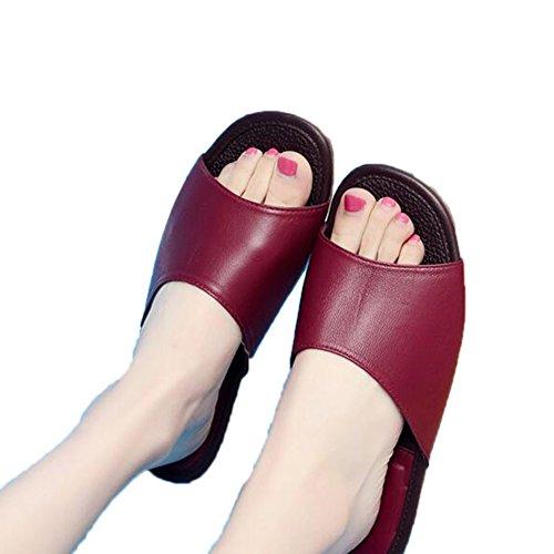 Chaussons Rouge pour Vin Femme TELLW twdqp7dxU