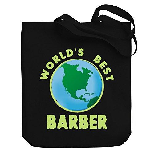 Tote Bag BEST Teeburon Teeburon Barber Canvas WORLD'S WORLD'S xBHwY
