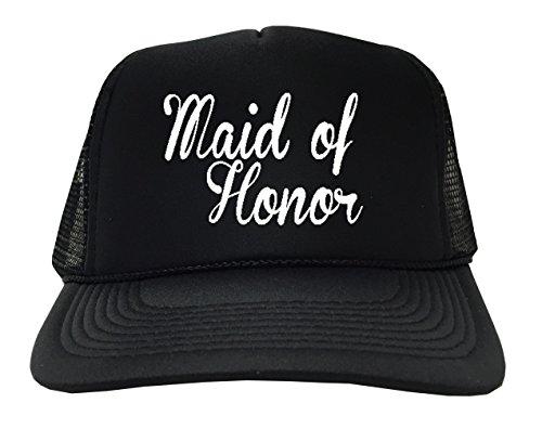 [P&B Maid of Honor Adjustable Unisex Adult Hat Cap, Black] (Maid Hat)