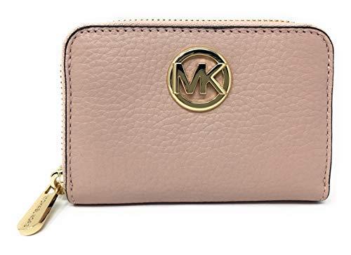 Michael Kors Fulton Leather Zip Around Coin Case (Pastel Pink)