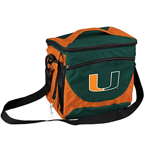 Logo Brands NCAA Miami 24 Can Cooler, Multi, One Size ()