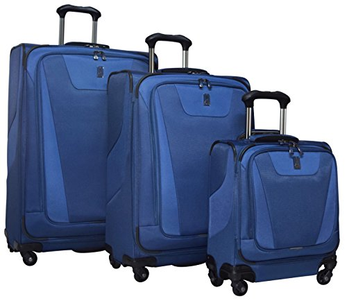 Travelpro Maxlite 4 3-Piece Luggage Set: 29'', 25'' Expandable Spinners and Under Seat Bag Carry On (Blue) by Travelpro