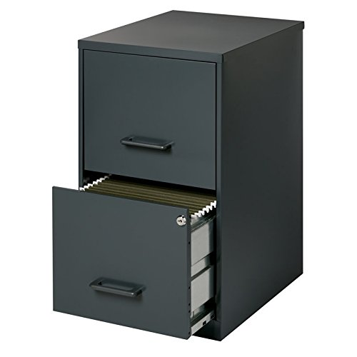 Lorell 14341 18 Deep 2-Drawer File Cabinet, Black by Lorell