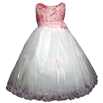 Amazon.com: Flower Girls Dresses - Pink Fuchsia (Size 2 - 12 ...