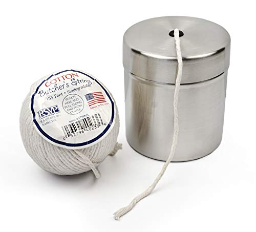 RSVP Biodegradable Butcher's Twine and Endurance 18/8 Stainless Steel Dispenser ()