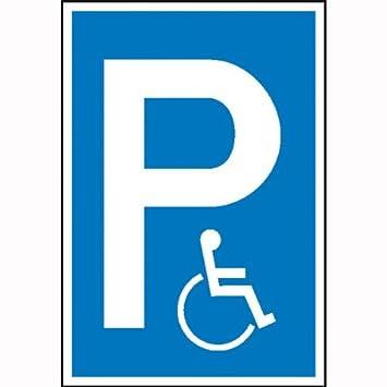 Parque infantil de la placa de símbolo: P - silla de ruedas ...