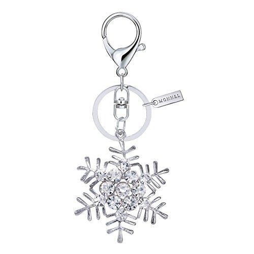 Bling Clear Crystal Snowflake Keychain Creative Packaging Box - Snowflake Keychain