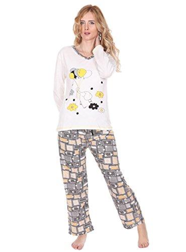 Elephant V-neck - Kartex Women's Long Sleeve V-Neck Pajamas Set (Elephant, US: Large, EU: X-Large)