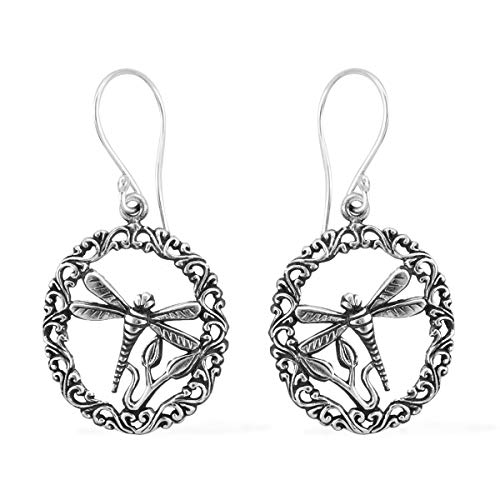 Dragonfly Dangle Drop Earrings 925 Sterling Silver Jewelry for Women