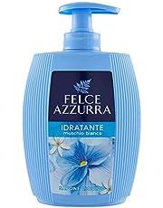 Felce Azzurra Mydło w płynie White Musk – dozownik mydła o przyjemnie świeżym zapachu i energii z owoców cytrusowych – 1 opakowanie (1 x 300 ml)