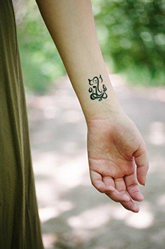 9d8ee4590 Yoga Mini Designs Temporary Tattoo Set - Mini Mandala, Lotus, Hamsa, Aum,