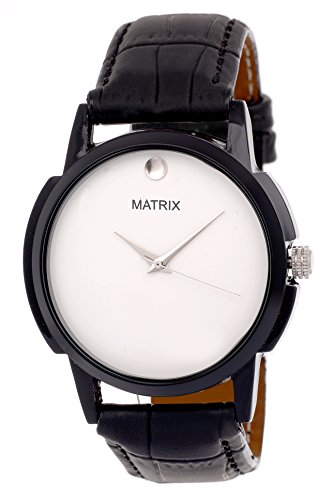 Matrix Analog White Dial Men's Watch-WCH-131-WH