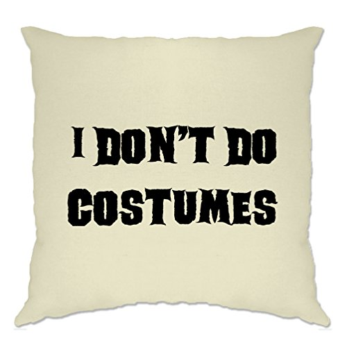 Tim And Ted I Don't Do Costumes Halloween Costume Dad Mom Monster Vampire Cushion (Funny Halloween Jokes For Trick Or Treating)
