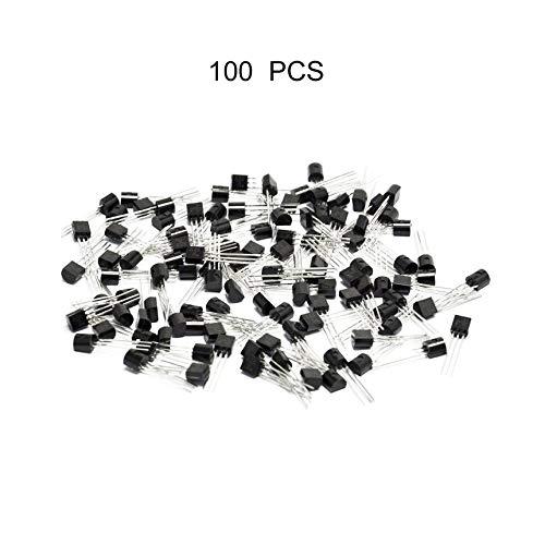 Negro Transistor NPN multifuncional 100Pcs Transistor NPN para TO-92 2N2222A 2N2222 Transistor NPN exquisito
