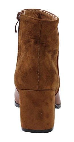 Daim Bottine et Shoes By Style Femme Cuir Style qOStnHnP