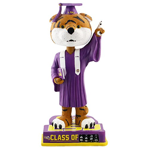 Mike The Tiger Lsu - Forever Collectibles Mike The Tiger LSU Tigers Graduation Special Edition Bobblehead