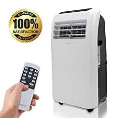 Serene Life Model : SLACHT108Portable Room Air Conditioner & Heater Portable Air Conditioner and Heater - Compact Home AC Cooling and Heating Unit with Built-in Dehumidifier & Fan Modes, Includes Window Mount Kit (10, 000 BTU Cooling)...