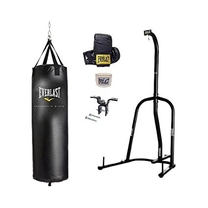 9d7c78fbcc5 Amazon.com   Everlast Single Station Heavy Bag Stand with a 70-lb ...