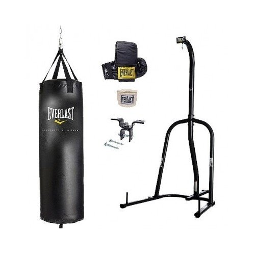 (Everlast Single Station Heavy Bag Stand with a 70-lb. Heavy Bag Kit)