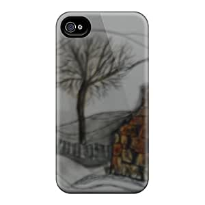 New Arrival Case Cover With QzP11102Tfxr Design For Iphone 4/4s- Winter Welsh Scene