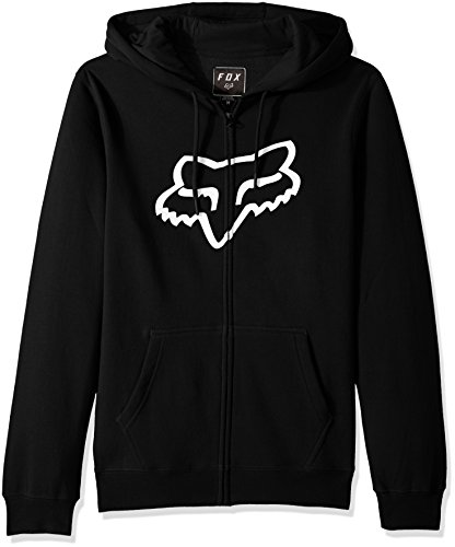 Fox Men's Standard Fit Legacy Logo Zip Hooded Sweatshirt, Black, ()