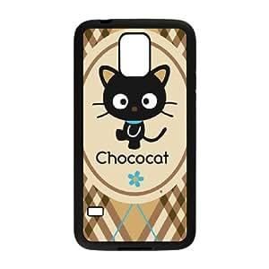 Chococat Brown and Blue Plaid Samsung Galaxy S5 Cell Phone Case Black NiceGift pjz0035091354
