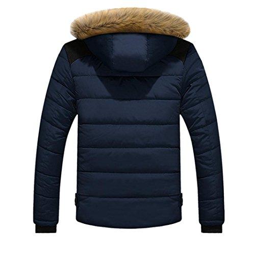 Jacket Hooded Winter Jacket Coat Color Men Blue 3 Thick Jacket Familizo Plus Men's Outdoor XXL Down Warm Blue gxqI8nq7w