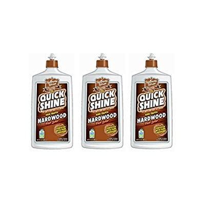 Quick Shine High Traffic Hardwood Floor Luster and Polish, 27 Fl. Oz. (3 Pack)
