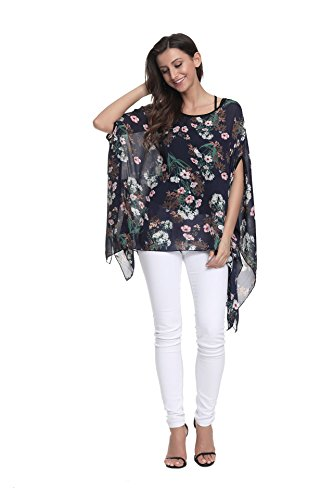 Style Style Mousseline Tops lache Shirt 10037 Porter de Plage Soie 6 Plus OKSakady Boho Couleurs Chemise Femmes en dcontract Les T pour Size qya1P8
