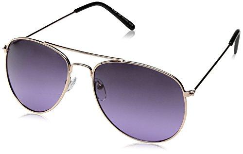 A.J. Morgan Women's Skye Aviator Sunglasses, Gold / Purple, 56 - By Aj Morgan Sunglasses