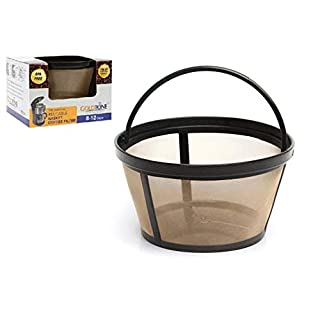 GOLDTONE Reusable 8-12 Cup Basket Coffee Filter fits Mr. Coffee Makers and Brewers, BPA Free