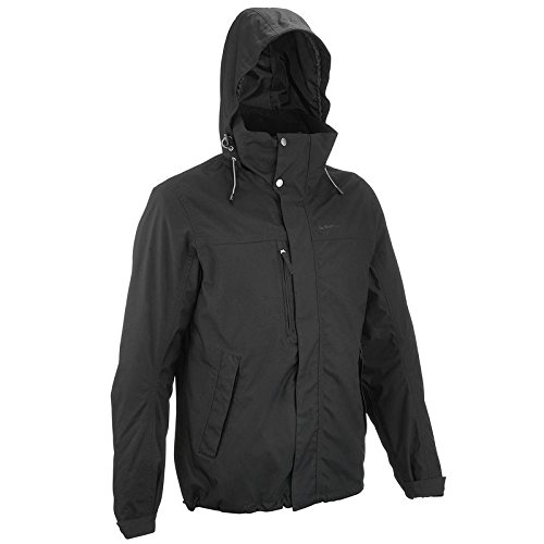 QUECHUA-ARPENAZ-300-RAIN-MENS-WATERPROOF-3-IN-1-JACKET-BLACK