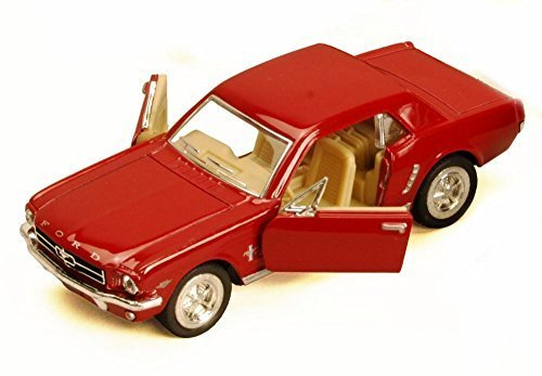 Kinsmart 1964 1/2 Ford Mustang, Red 5351D - 1/36 Scale Diecast Model Toy Car, but NO Box