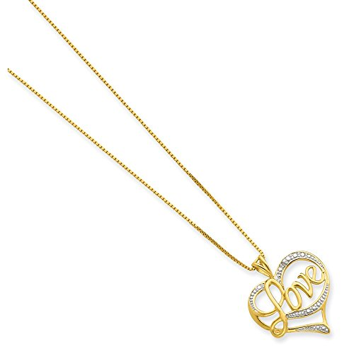 925 Sterling Silver Vermeil Diamond Love Chain Necklace Pendant Charm Fine Jewelry Gifts For Women For Her