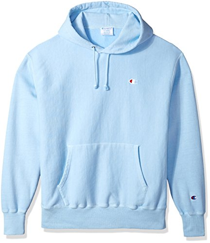 Champion LIFE Men's Reverse Weave Pullover Hoodie, Upstate Blue Pigment Dyed, XS by Champion LIFE
