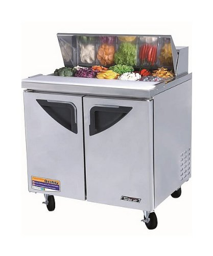 Turbo Air TST-36SD - Sandwich / Salad Unit w/ 2-Door, For 10-Pan, Stainless, 11-cu ft