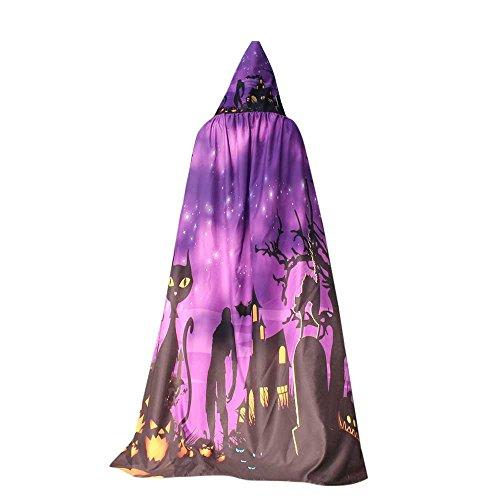 Halloween Womens Cloak,KIKOY Novelty Pumpkin Print Cape Scarf Lady Poncho Shawl Wrap Costume