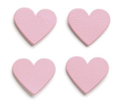 Embellish Your Story Light Pink Heart Magnets - Set of 4