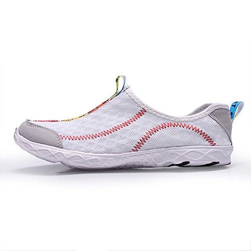 Scarpe Da Acqua Atletiche Unisex Quick-dry Summer Beach Swim Shoes Aqua Socks Walking Sneakers Per Surf Yoga Water Aerobics Bianco