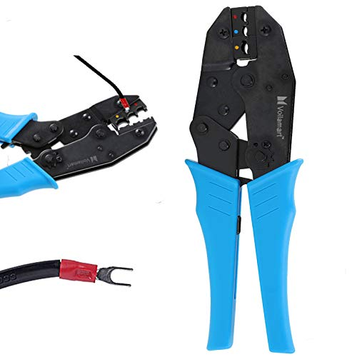 - Voilamart Insulated Wire Crimper, Wire Terminals Connectors Ratcheting Crimper Plier Tool for 22-10AWG