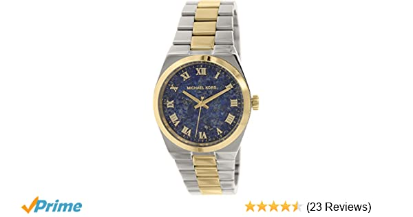 Amazon.com: Michael Kors Womens MK5893 - Channing Two Tone/Blue: Michael Kors: Watches
