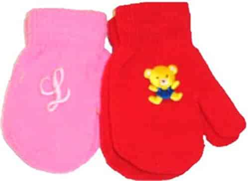 Set of Four Pairs of One Size Magic Stretch Mittens for Infants Ages 3-12 Months Gloves & Mittens Accessories