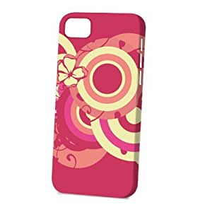 TYHde Case Fun Apple ipod Touch4 Case - Vogue Version - 3D Full Wrap - Pink and Yellow Circles ending