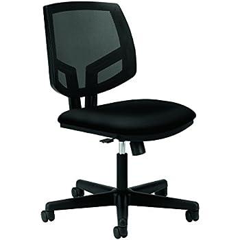 HON Volt Upholstered Task Chair - Mesh Back Computer Chair for Office Desk, Black (H5713)