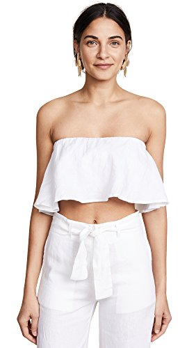 FAITHFULL THE BRAND Women's Solana Top, White, Large by Faithfull