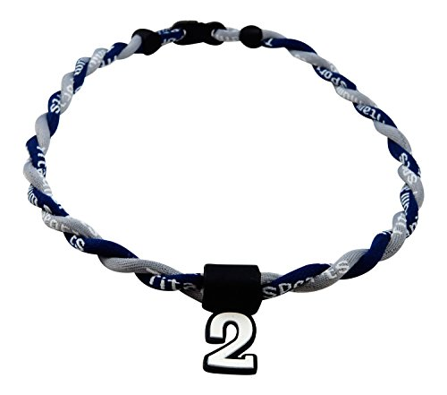 Gray Titanium Necklace (Pick Your Number - Twisted Titanium Sports Tornado Necklace (Navy Gray))